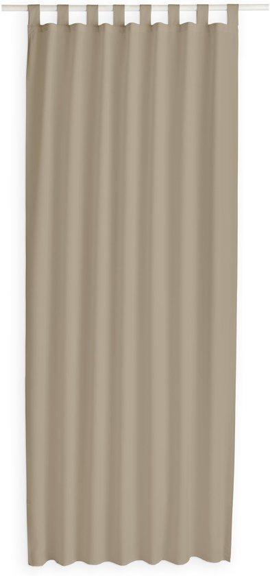 Kant en Klaar Gordijn Met Lus Beige - 140cm x 260cm