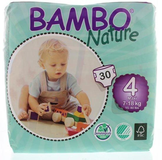 Foto van Bambo Nature Babyluier maxi 4 7 - 18 kg 30 stuks