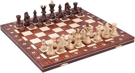 Sunrise Ambasador- Luxe schaakspel schaakbord (Hout)