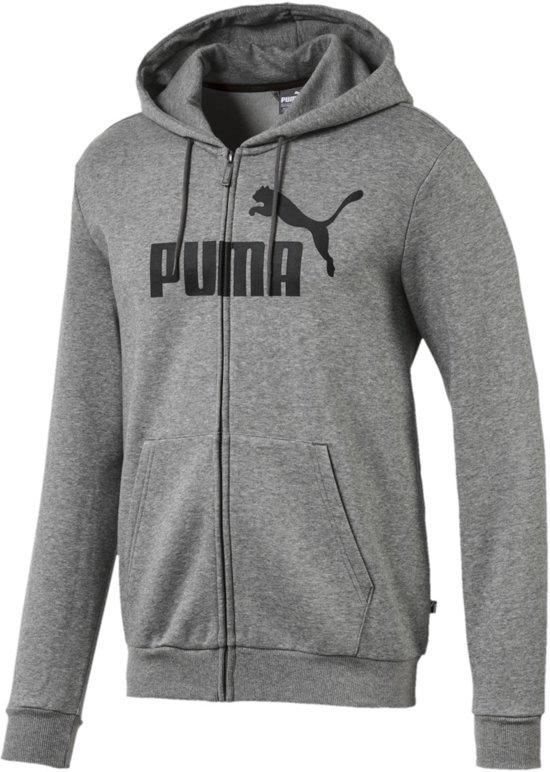 e5099dd9654 Puma Ess Big Logo FZ FL Hoody Sportvest casual - Maat M - Mannen - grijs