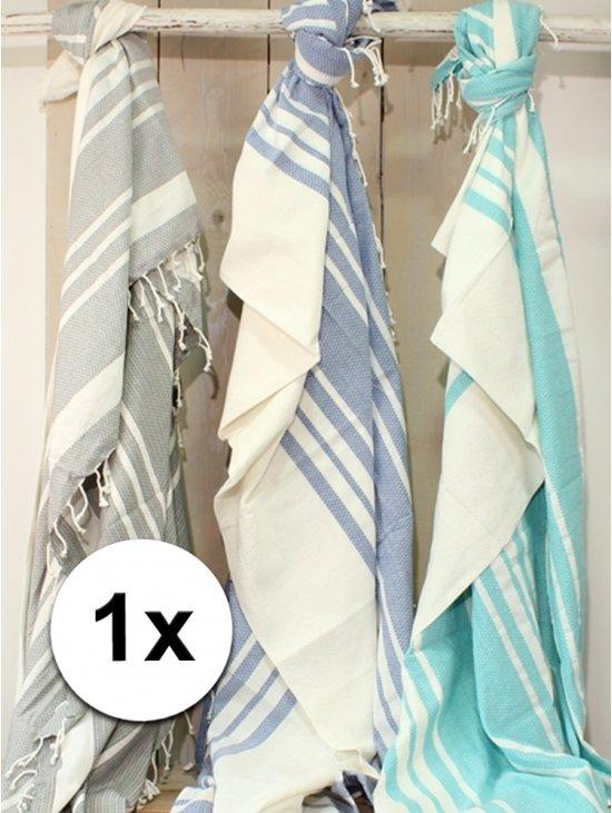 4b929d1fdf7 bol.com | Hamam handdoek XL blauw 200 x 240 cm