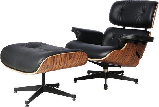 Leren Fauteuil Design.Bol Com Gb Fauteuil Met Ottoman Palissander Eames Model Leder