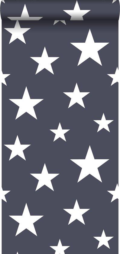 Hedendaags bol.com   ESTAhome behang grote en kleine sterren donkerblauw - 138933 NB-28