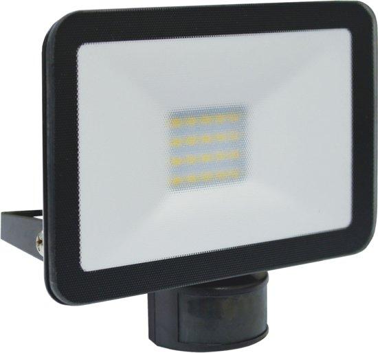 Buitenlamp Met Sensor Zwart.Elro Lf5020p Led Buitenlamp Met Bewegingssensor Slim Design 20w 1600lm Zwart