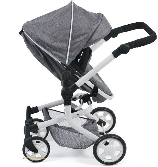 Bayer Chic 2000 - Combi Poppenwagen - Mika Jeans Grey