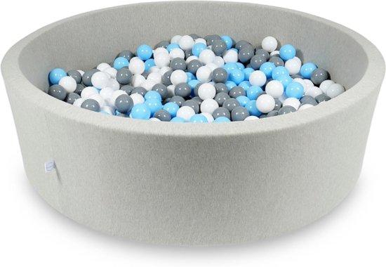 Ballenbak XXL - 700 ballen - 130 x 40 cm - ballenbad - rond grijs