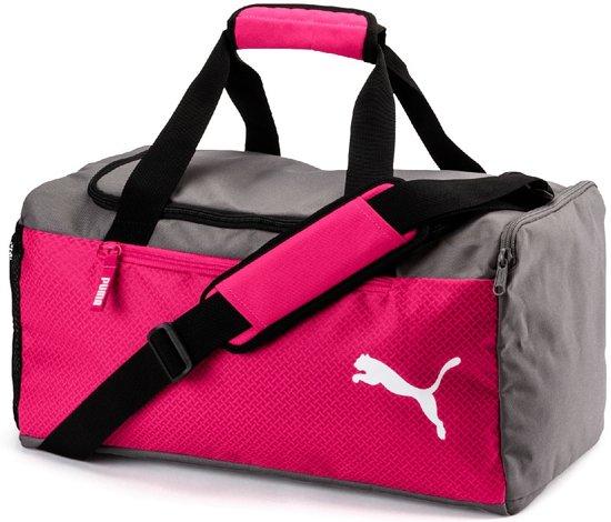 267487ab975b PUMA Fundamentals Sports Bag S Sporttas Unisex - Beetroot Purple-Steel Gray