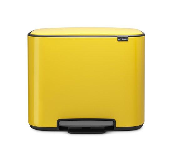 Brabantia Bo Prullenbak - 11 + 23 l - Daisy Yellow