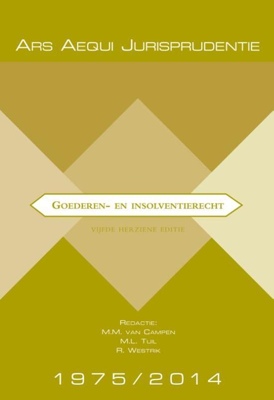 Jurisprudentie Goederen- & insolventierecht 1975-2014 - Ars Aequi Libri