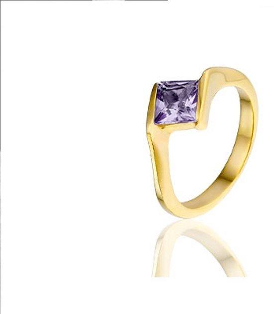 Montebello, verguld zilveren ring, Daka, maat 56