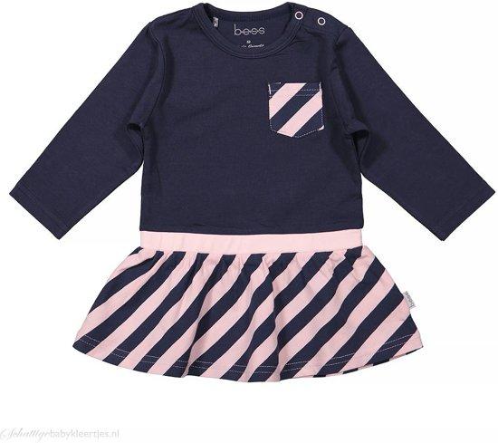 Babykleding Maat 50.Bol Com Jurkje Striped Blue Girls Bess Babykleding Maat 50