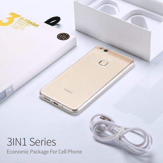 Huawei P9 Lite TPU Hoesje, Screen Protector en Oplader
