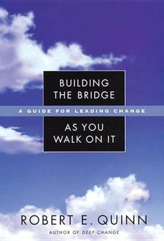 Boek cover Building the Bridge As You Walk On It van Robert E. Quinn (Onbekend)