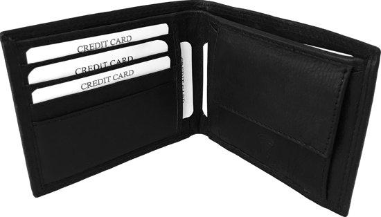 c1a3366cdd8 Lundholm - leren portemonnee heren leer RFID - anti skim |compact model -  zwart