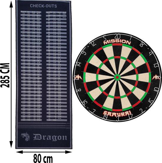 Dragon darts - finish dartmat - inclusief - Samurai - dartbord - dartmat