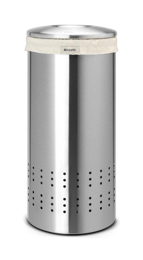 Brabantia Wasmand 30 Liter.Wasbox 30 Liter Matt Steel