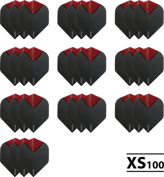 10 Sets (30 stuks) XS100 Skylight flights Multipack - Rood