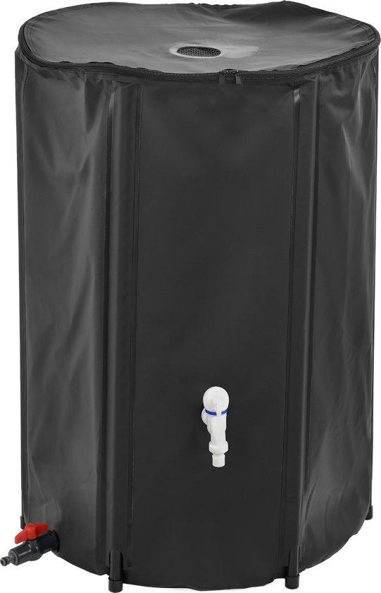 Inklapbare Watertank - Regenton - 250 liter - zwart