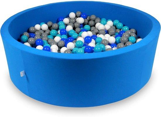 Ballenbak XXL - 700 ballen - 130 x 40 cm - ballenbad - rond blauw