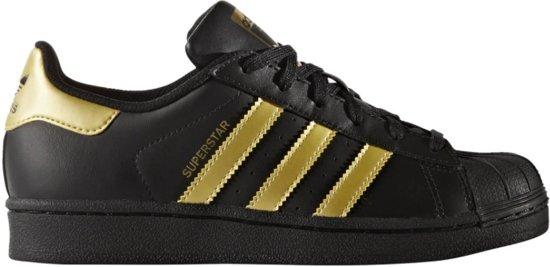 adidas superstar heren zwart goud