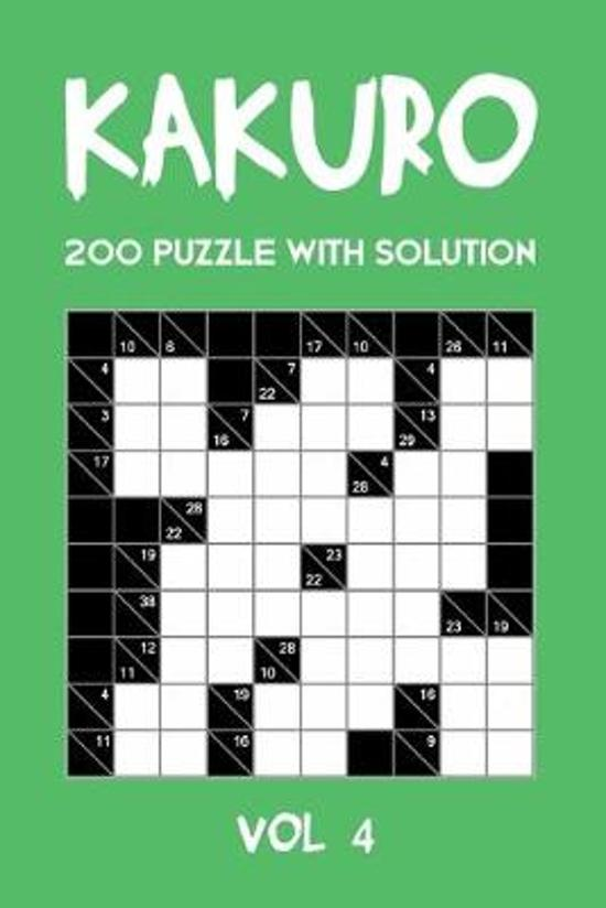 Kakuro 200 Puzzle With Solution Vol 4