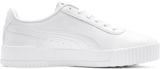 PUMA Carina P Sneakers Dames - Puma White-Puma White - Maat 37.5