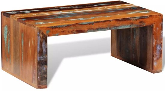 Salon Tafel Hout : Bol vidaxl salontafel gerecycled hout