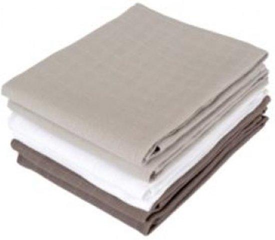 Jollein - Hydrofiel Luier - Grijs/Antraciet/Wit (6-pack)