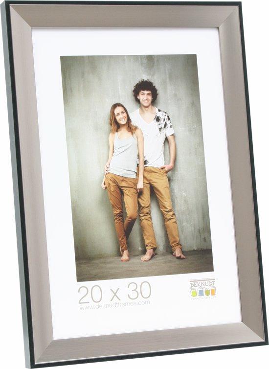 Bolcom Deknudt Frames Fotokader Zilver Met Zwarte Buitenbies