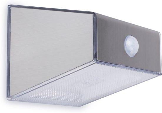 Solar Wandlamp Tuin : Bol smartwares solar wandlamp pir rvs afwerking