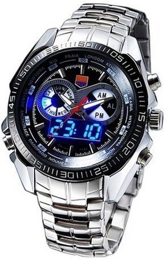 bol.com | TVG Military Horloge met LED Horloge Ø 45mm