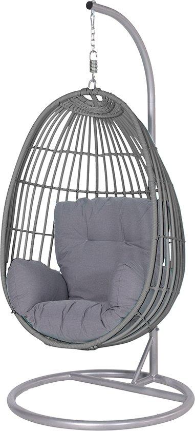 Hangstoel Met Parasol.Bol Com Garden Impressions Panama Hangstoel Wicker Donker Grijs