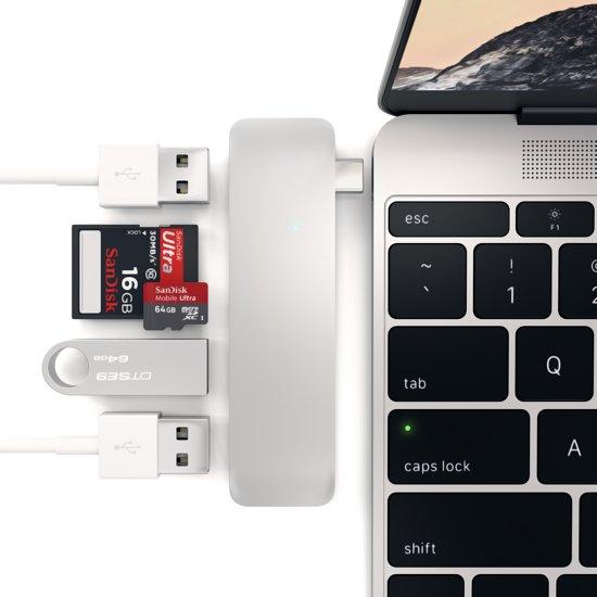Satechi Type-C USB Combo Hub - Silver