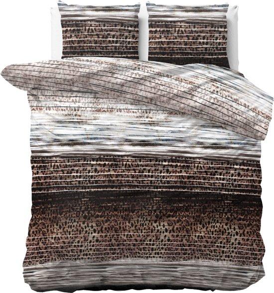Sleeptime Panther Style - Dekbedovertrekset - Lits-Jumeaux - 240x200/220 + 2 kussenslopen 60x70 - Taupe