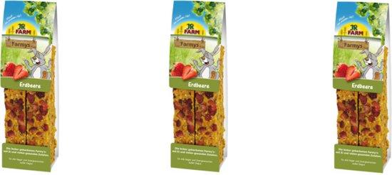 JR Farm - Farmys Aardbei - 160g - Verpakt per 3 doosjes - Knaagdierensnack