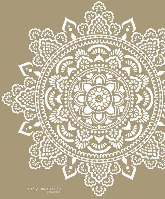 Sjablonen Voor Op De Muur.Mandala Holy Stencil Sjabloon Kunststof 184x184cm Om Je Eigen Mandala Te Schilderen