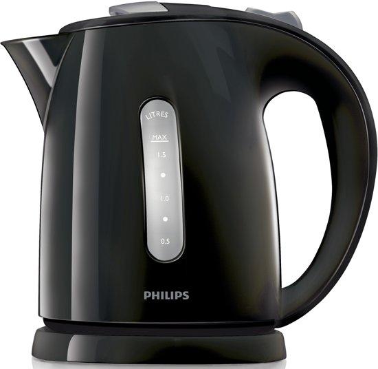 Zwarte Aanslag Waterkoker.Philips Waterkoker Hd4646 20 Zwart