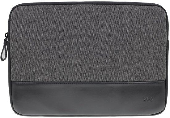Gearmax leder en wol grijs zwart 13inch MacBook air pro sleeve en iPad Pro