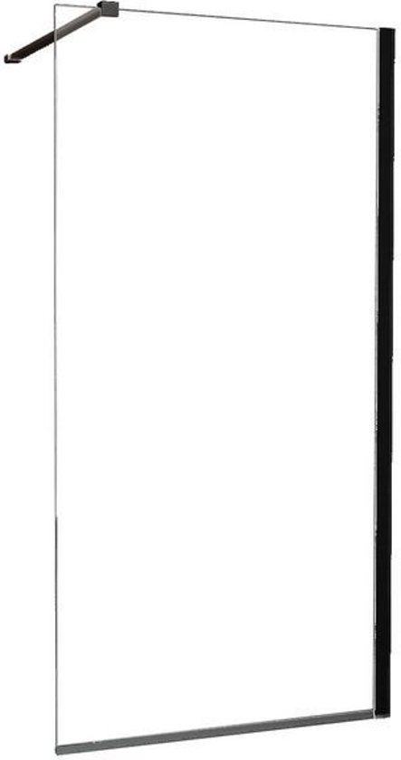 Glaswand Voor Inloopdouche : Bol.com wiesbaden inloopdouche safety glass zwart muurprofiel