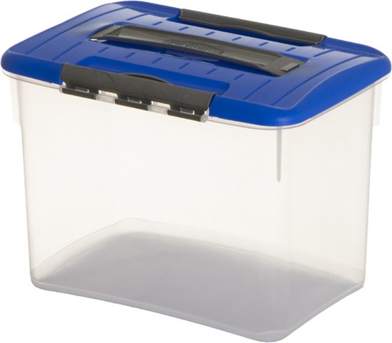 Curver Optima Opbergbox - 8 l - Transparant / Blauw