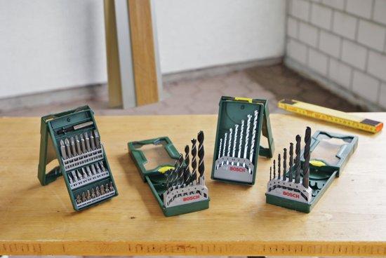 Bosch X-Line borenset - 46-delig - Voor hout, metaal en steen - geschikt voor alle merken