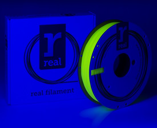 REAL Filament PLA fluoriserend geel 1.75mm (500g)