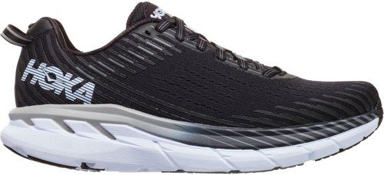 Hoka Clifton 5 Sportschoenen - Maat 41 1/3 - Vrouwen - zwart/wit