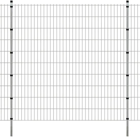 vidaXL Dubbelstaafmat 2008 x 2030 mm 12 m zilver 6 stuks