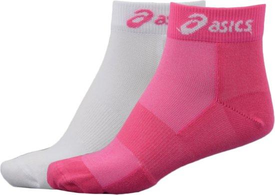 Asics 2 PPK Sport Hardloopsokken - Maat 35-38 - Unisex - roze/wit