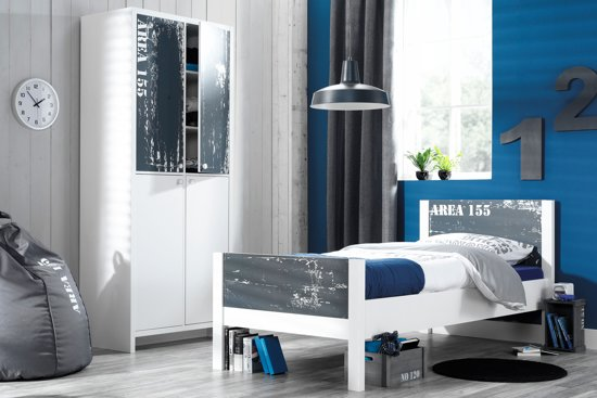 Bolcom True Furniture Area 155 Bed En Kast Wit Grijs