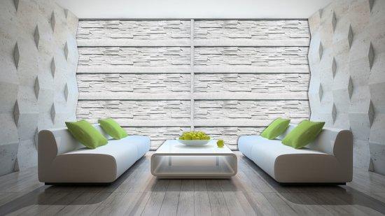Bol fotobehang papier muur wit grijs cm