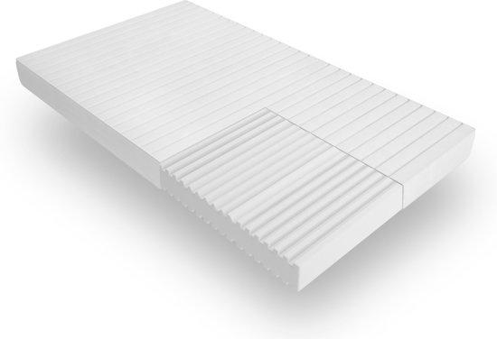 Matras - 90x200 - 7 zones - koudschuim - microvezel tijk - 15 cm hoog