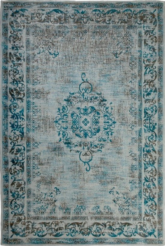 430fb7aba363da Vintage Vloerkleed Dae 160x240 - Blauw Grijs