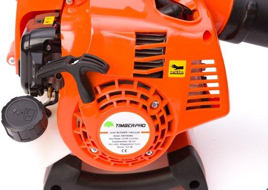 Timberpro Benzine Bladblazer -Met zuig en versnipperfunctie - Blaassnelheid 350 km/h - Opvangzak 45 l